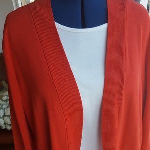 Red sweater pockets Jones NY sz 1X NWT